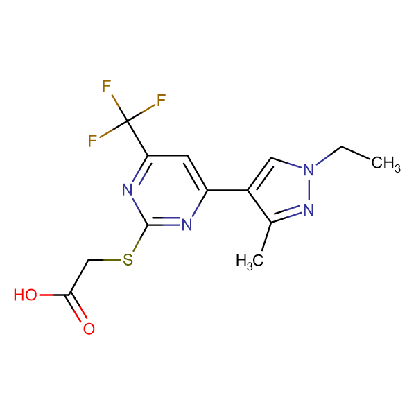 [4-(1-Ethyl-3-methyl-1 H -pyrazol-4-yl)-6-trifluoromethyl-pyrimidin-2-ylsulfanyl]-acetic acid
