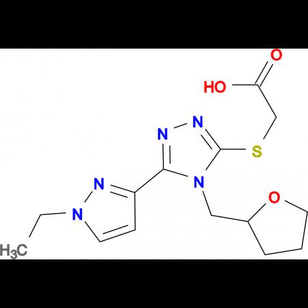 [5-(1-Ethyl-1 H -pyrazol-3-yl)-4-(tetrahydro-furan-2-ylmethyl)-4 H -[1,2,4]triazol-3-ylsulfanyl]-acetic acid
