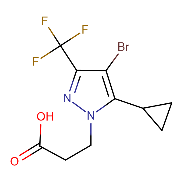 3-(4-Bromo-5-cyclopropyl-3-trifluoromethyl-pyrazol-1-yl)-propionic acid