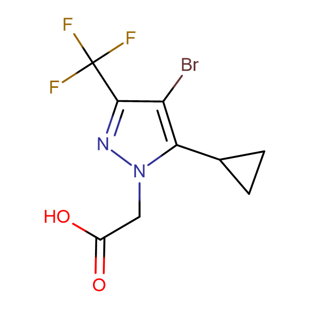 (4-Bromo-5-cyclopropyl-3-trifluoromethyl-pyrazol-1-yl)-acetic acid