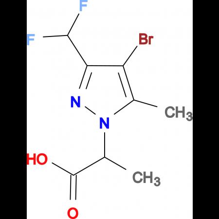 2-(4-Bromo-3-difluoromethyl-5-methyl-pyrazol-1-yl)-propionic acid
