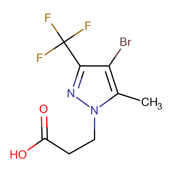 3-(4-Bromo-5-methyl-3-trifluoromethyl-pyrazol-1-yl)-propionic acid