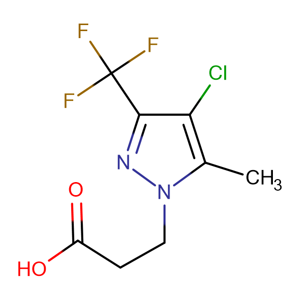 3-(4-Chloro-5-methyl-3-trifluoromethyl-pyrazol-1-yl)-propionic acid