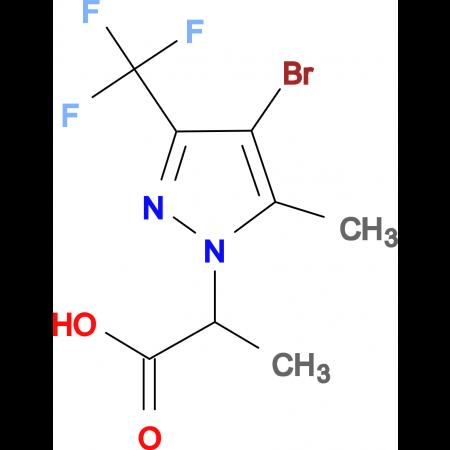 2-(4-Bromo-5-methyl-3-trifluoromethyl-pyrazol-1-yl)-propionic acid