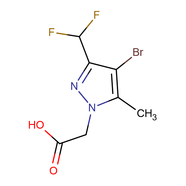 (4-Bromo-3-difluoromethyl-5-methyl-pyrazol-1-yl)-acetic acid