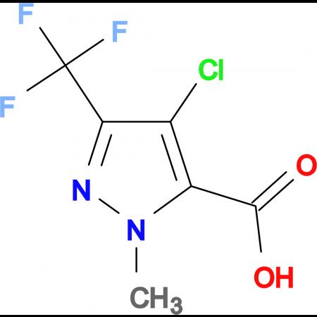 4-Chloro-2-methyl-5-trifluoromethyl-2 H -pyrazole-3-carboxylic acid