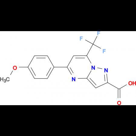 5-(4-Methoxy-phenyl)-7-trifluoromethyl-pyrazolo[1,5-a]pyrimidine-2-carboxylic acid