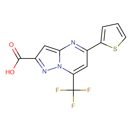 5-Thiophen-2-yl-7-trifluoromethyl-pyrazolo[1,5- a]pyrimidine-2-carboxylic acid