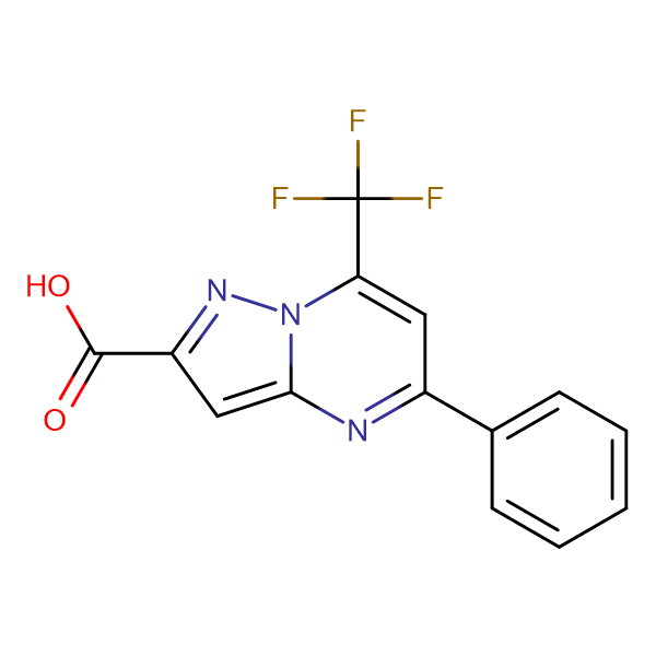 5-Phenyl-7-trifluoromethyl-pyrazolo[1,5- a ]pyrimidine-2-carboxylic acid