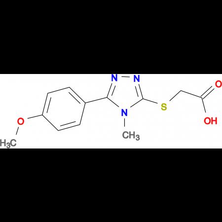 2-{[5-(4-Methoxyphenyl)-4-methyl-4H-1,2,4-triazol-3-yl]thio}acetic acid