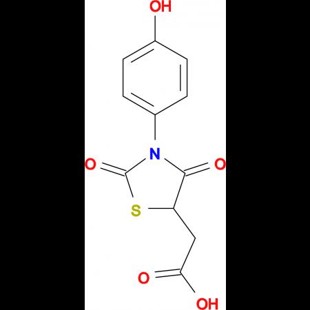 [3-(4-Hydroxy-phenyl)-2,4-dioxo-thiazolidin-5-yl]-acetic acid