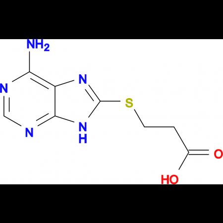 3-(6-Amino-9 H -purin-8-ylsulfanyl)-propionic acid