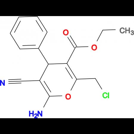 6-Amino-2-chloromethyl-5-cyano-4-phenyl-4 H -pyran-3-carboxylic acid ethyl ester