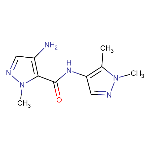 4-Amino-2-methyl-2 H -pyrazole-3-carboxylic acid (1,5-dimethyl-1 H -pyrazol-4-yl)-amide