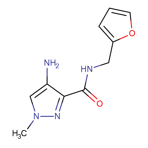 4-Amino-1-methyl-1 H -pyrazole-3-carboxylic acid (furan-2-ylmethyl)-amide