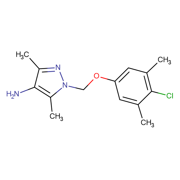 1-(4-Chloro-3,5-dimethyl-phenoxymethyl)-3,5-dimethyl-1 H -pyrazol-4-ylamine