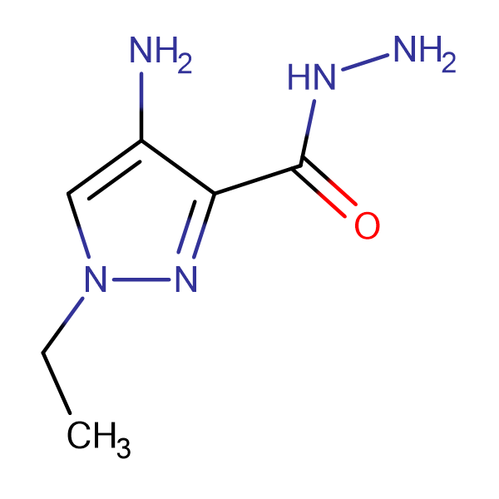 4-Amino-1-ethyl-1 H -pyrazole-3-carboxylic acid hydrazide