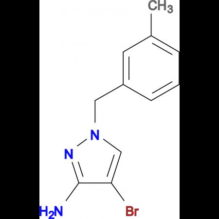 4-Bromo-1-(3-methyl-benzyl)-1 H -pyrazol-3-ylamine