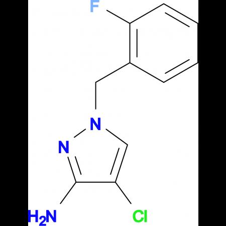 4-Chloro-1-(2-fluoro-benzyl)-1 H -pyrazol-3-ylamine