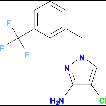 4-Chloro-1-(3-trifluoromethyl-benzyl)-1 H -pyrazol-3-ylamine