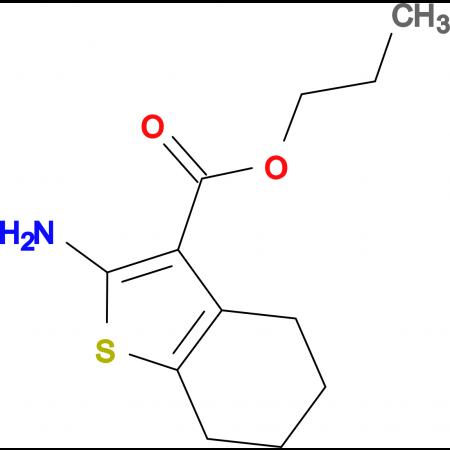 2-Amino-4,5,6,7-tetrahydro-benzo[ b ]thiophene-3-carboxylic acid propyl ester