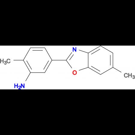 2-Methyl-5-(6-methyl-benzooxazol-2-yl)-phenylamine