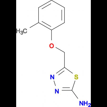 5- o -Tolyloxymethyl-[1,3,4]thiadiazol-2-ylamine