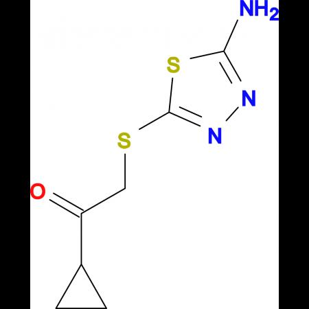 2-(5-Amino-[1,3,4]thiadiazol-2-ylsulfanyl)-1-cyclopropyl-ethanone