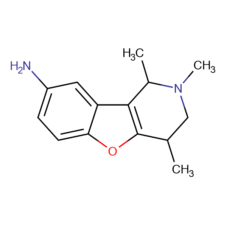 1,2,4-Trimethyl-1,2,3,4-tetrahydro-benzo[4,5]furo[3,2- c ]pyridin-8-ylamine