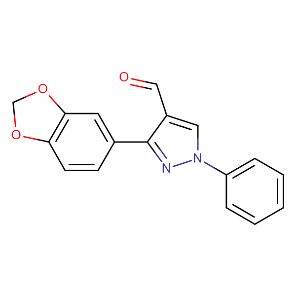 3-Benzo[1,3]dioxol-5-yl-1-phenyl-1 H -pyrazole-4-carbaldehyde