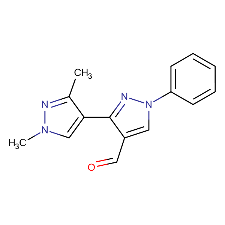 1',3'-Dimethyl-1-phenyl-1 H ,1' H -[3,4']bipyrazolyl-4-carbaldehyde