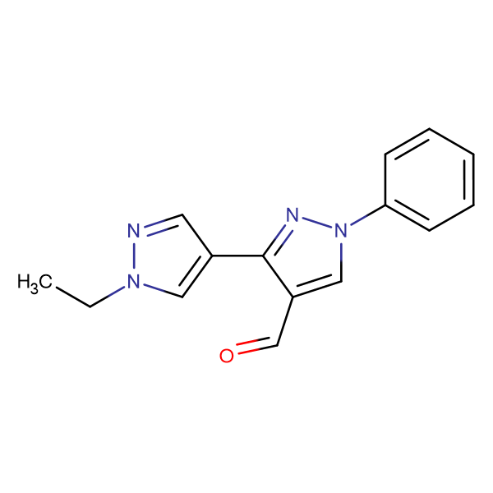 1'-Ethyl-1-phenyl-1 H ,1' H -[3,4']bipyrazolyl-4-carbaldehyde