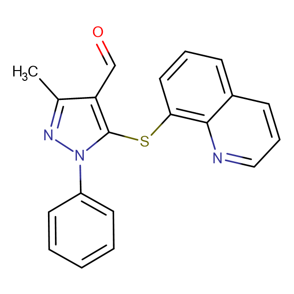3-Methyl-1-phenyl-5-(quinolin-8-ylsulfanyl)-1 H -pyrazole-4-carbaldehyde