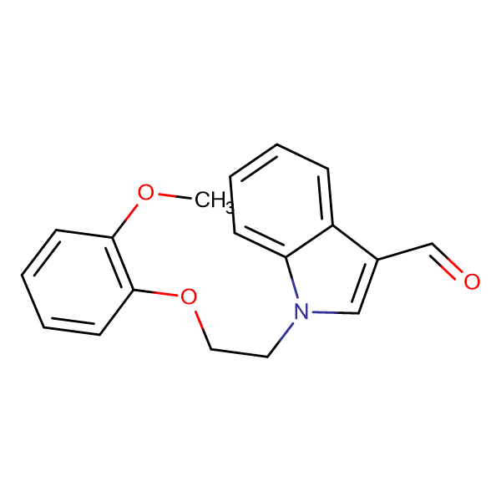 1-[2-(2-Methoxy-phenoxy)-ethyl]-1 H -indole-3-carbaldehyde