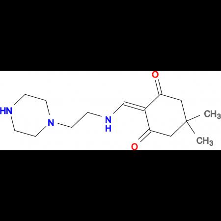 5,5-Dimethyl-2-[(2-piperazin-1-yl-ethylamino)-methylene]-cyclohexane-1,3-dione