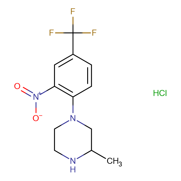 1-[2-Nitro-4-(trifluoromethyl)phenyl]-3-methylpiperazine hydrochloride