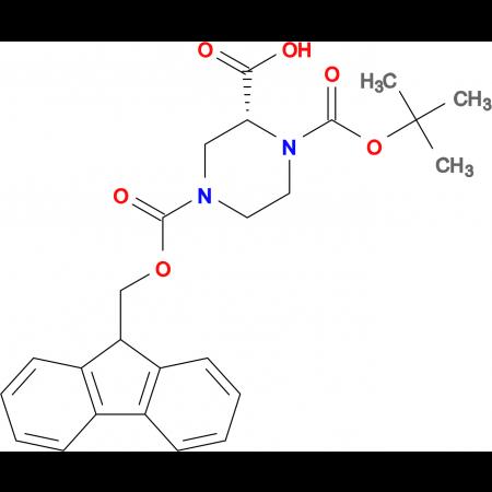 (R)-1-N-Boc-4-N-Fmoc-2-Piperazine carboxylic acid