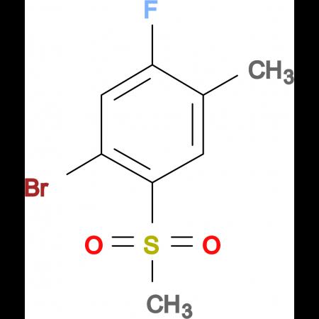 4-Bromo-2-fluoro-5-methylsulfonyltoluene