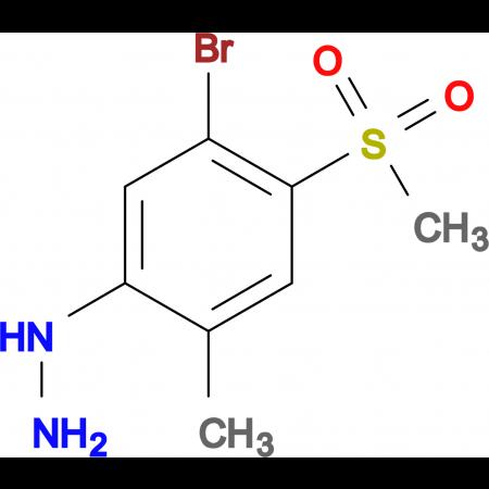 5-Bromo-2-methyl-4-methylsulfonylphenylhydrazine