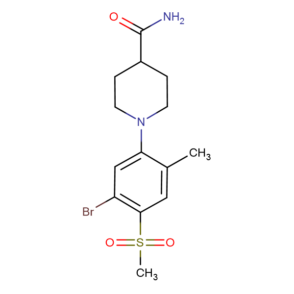 1-[(5-Bromo-2-methyl-4-methylsulfonyl)phenyl]piperidine-4-carboxamide