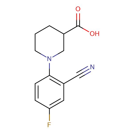1-[(2-Cyano-4-fluoro)phenyl]piperidine-3-carboxylic acid
