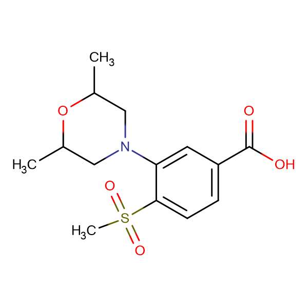 3-(2,6-Dimethylmorpholin-4-yl)-4-methylsulfonylbenzoic acid