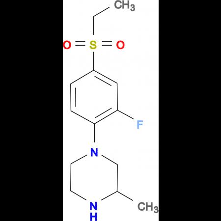 1-[(4-Ethylsulfonyl-2-fluoro)phenyl]-3-methylpiperazine