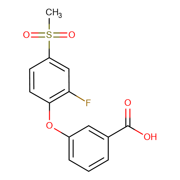 3-[(2-Fluoro-4-methylsulfonyl)phenoxy]benzoic acid
