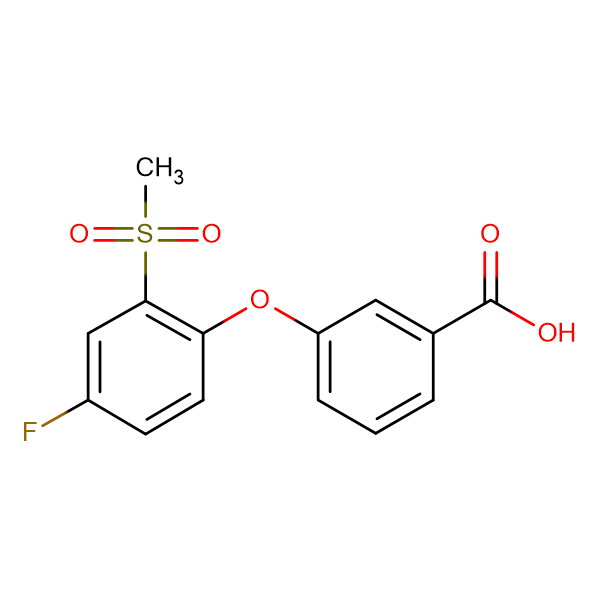 3-[(4-Fluoro-4-methylsulfonyl)phenoxy]benzoic acid