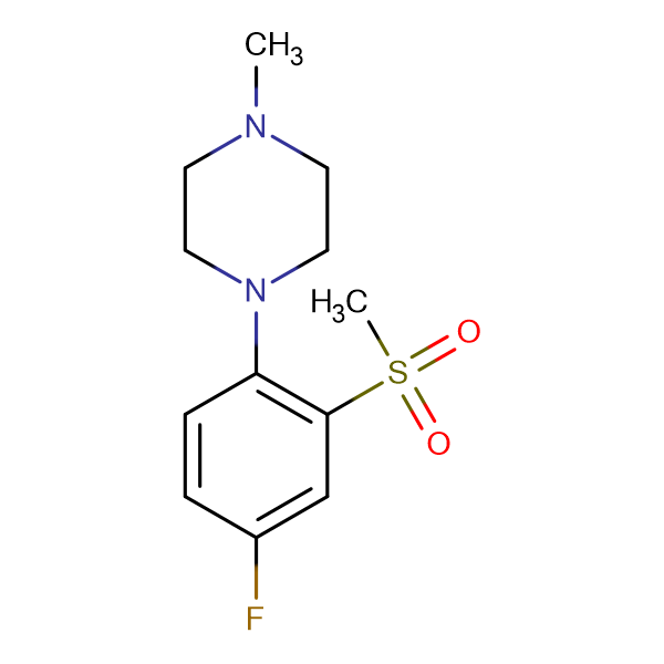 1-[(4-Fluoro-2-methylsulfonyl)phenyl]-4-methylpiperazine