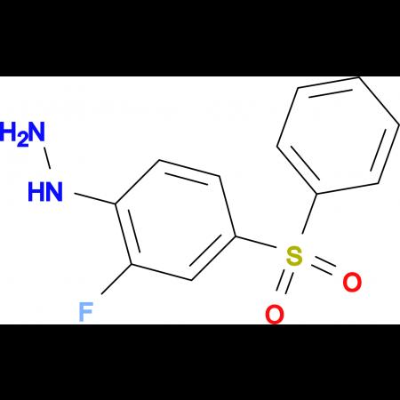 2-Fluoro-4-(phenylsulfonyl)phenylhydrazine