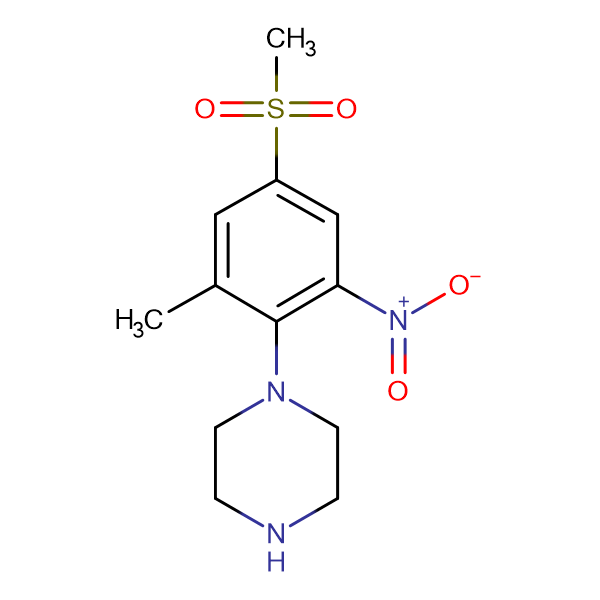 1-[(2-Methyl-4-methylsulfonyl-6-nitro)phenyl]piperazine