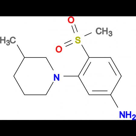 3-(3-Methylpiperidin-1-yl)-4-methylsulfonylaniline