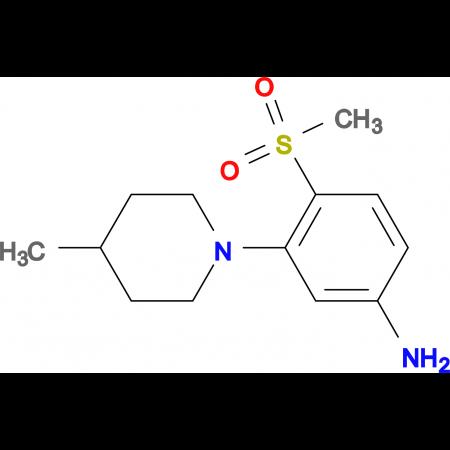 3-(4-Methylpiperidin-1-yl)-4-methylsulfonylaniline